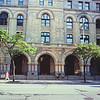 Architecture and Resting Steps : Milwaukee Cityscape Medium Format Color Film