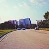 City Beyond the Park : Milwaukee Cityscape Medium Format Color Film