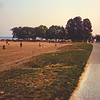 End of Day Light at Bradford Beach County Park : Milwaukee Cityscape Medium Format Color Film