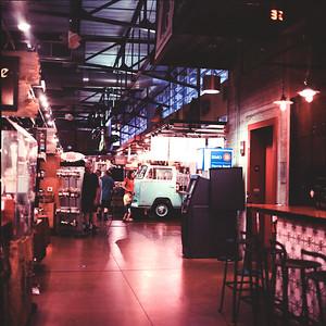 Vanagon | On the Bus | Milwaukee Public Market : Milwaukee Cityscape Medium Format Color Film
