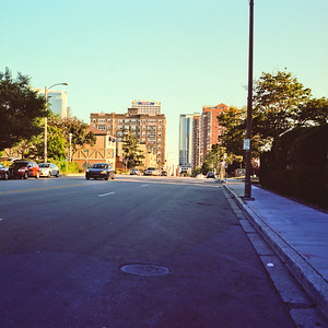 Beyond the Road : Milwaukee Cityscape Medium Format Color Film