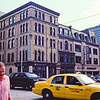 Taxi and Bank : Milwaukee Cityscape Medium Format Color Film