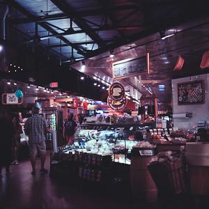 Cheesemonger at Milwaukee Public Market : Milwaukee Cityscape Medium Format Color Film