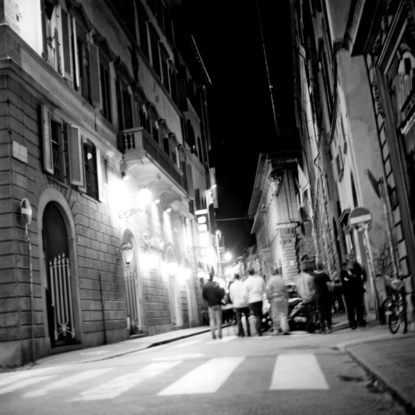 Night Architecture in Florence 5:Italy beyond 70mm. Photographs taken on 80mm (Medium format film)