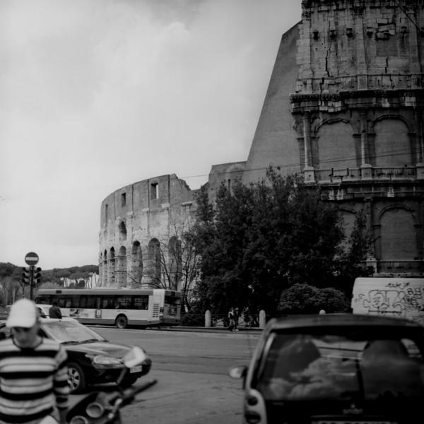 Colosseum in Rome 5:Italy beyond 70mm. Photographs taken on 80mm (Medium format film)