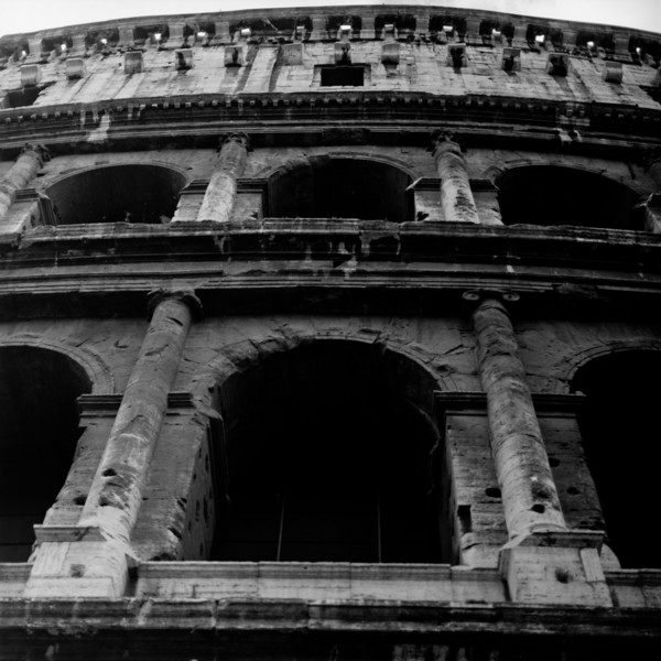 Colosseum in Rome 7:Italy beyond 70mm. Photographs taken on 80mm (Medium format film)