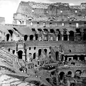 Colosseum in Rome 2:Italy beyond 70mm. Photographs taken on 80mm (Medium format film)