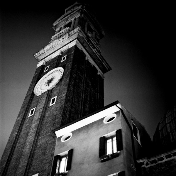 Architecture at Night in Venice 2:Italy beyond 70mm. Photographs taken on 80mm (Medium format film)