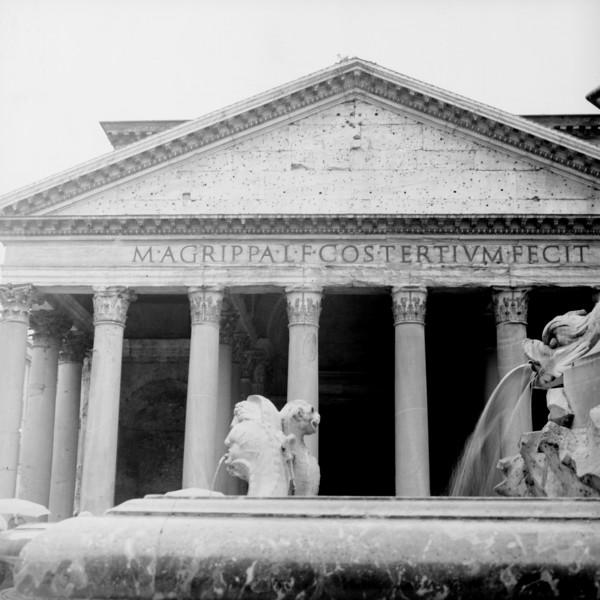Pantheon in Rome  1:Italy beyond 70mm. Photographs taken on 80mm (Medium format film)