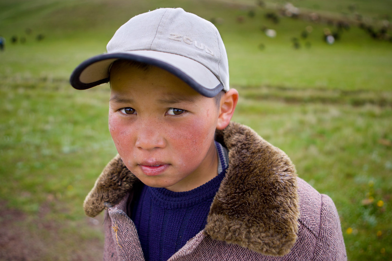 A shepherd near Song-Kul.