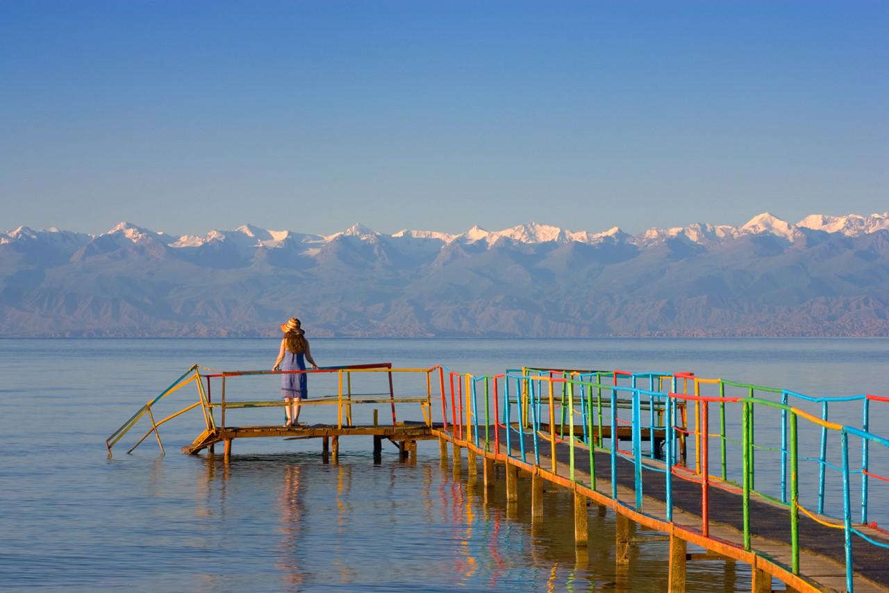 Vacation resort. Lake Issyk-Kul.