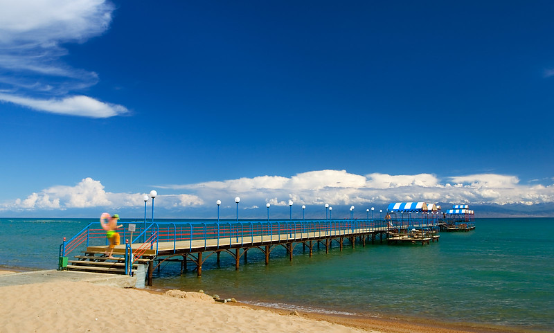 Vacation resort. Lake Issyk-Kul.
