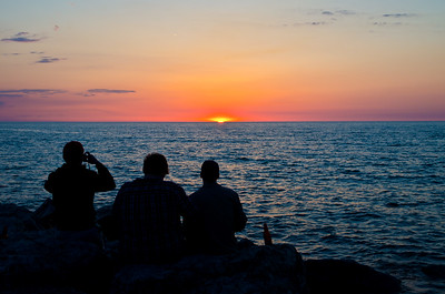 3 Men and a Sunset