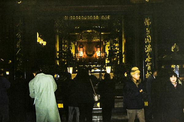 Worshipers at Azakusa temple