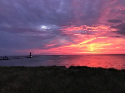 Spectacular Sunset on Lake Michigan