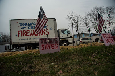 Jesus and Fireworks and the American Flag