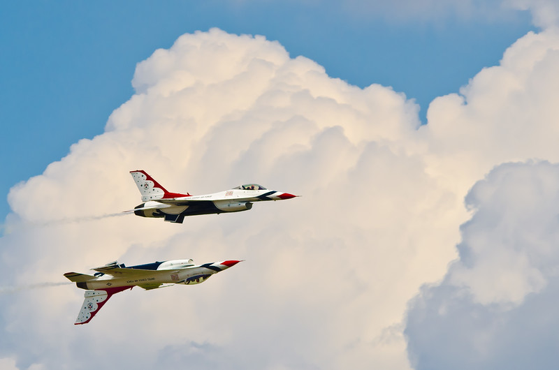 Clouds and F-16s