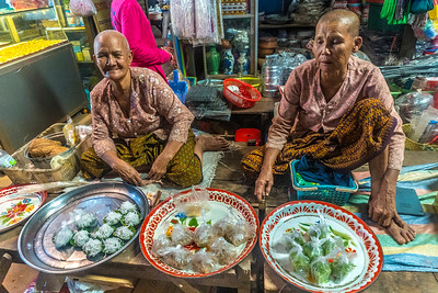 Traditional Khmer Snacks at the Market