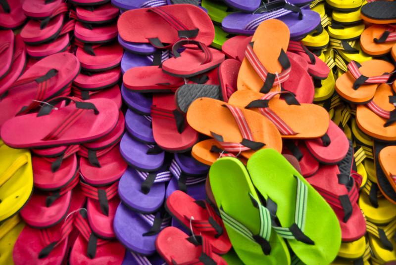 Western style flip flops
