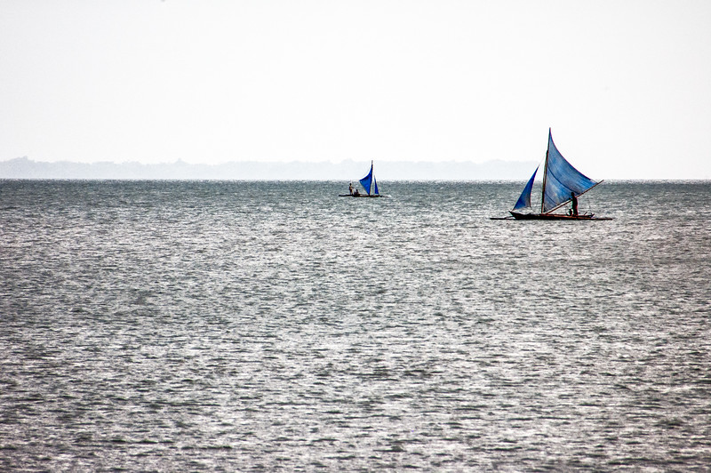 Two paraws (native sailboat), Iloilo City