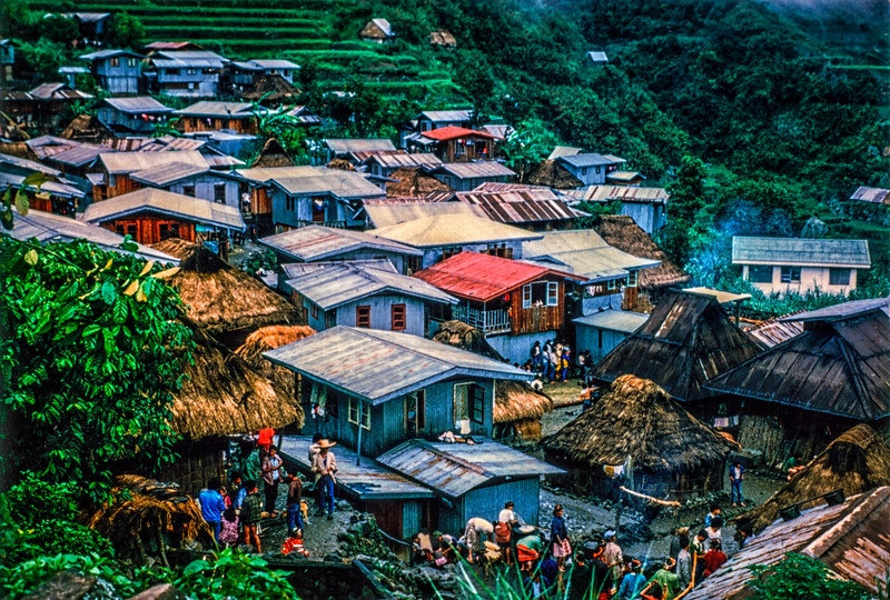 A village up in the mountains