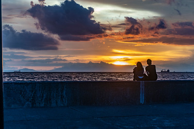 Watching the sunset over Manila Bay