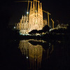 Sagrada Familia reflected on a pool