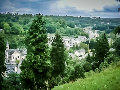 The lower part of Luxembourg.