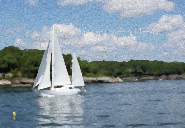 Sailboat in Casco Bay, Maine