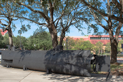 Civil War Submarine, H.L. Hunley, Charleston, SC