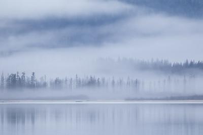"ALASKA 0609  ""Chilkoot Lake Fog""  Haines, AK"
