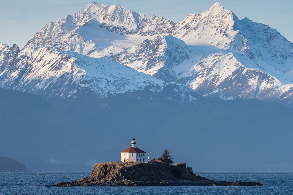 "ALASKA 0739<br /> <br /> ""Eldred Rock Light""<br /> <br /> Lynn Canal - Southeast AK"