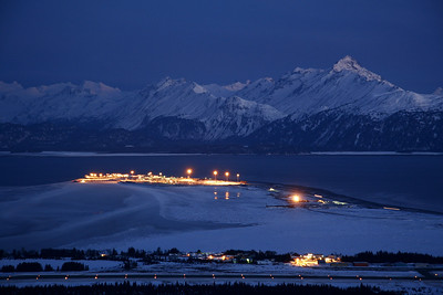 "ALASKA 9660  ""Night falls on the Homer Spit""  Homer, AK"