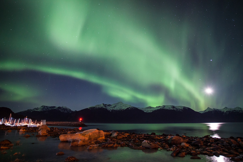 "ALASKA 0841<br /> <br /> ""November Aurora over Haines, Alaska"""
