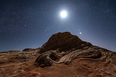 """Moonlit Night at White Pocket"""