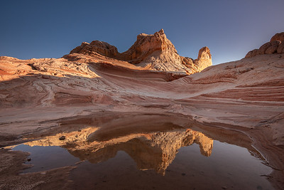 """Sunset Reflections at White Pocket"""