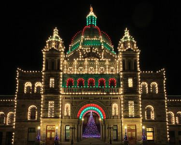 """BRITISH COLUMBIA 2737  """"The holidays at BC Parliament""""  British Columbia Parliament building in Victoria."""