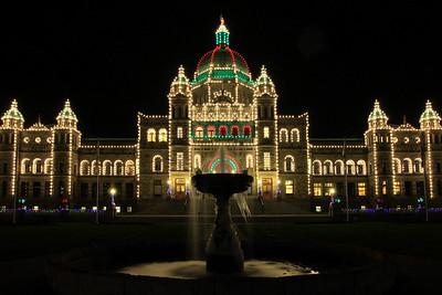 """BRITISH COLUMBIA 2734  """"The holidays at BC Parliament""""  British Columbia Parliament building in Victoria."""