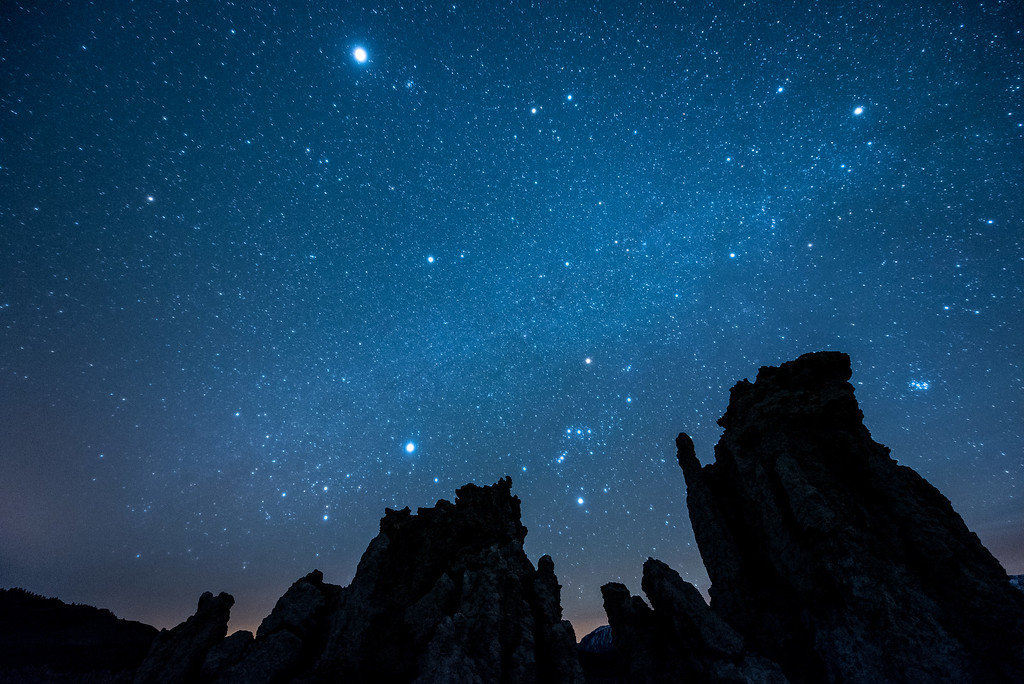 "CALIFORNIA 2064<br /> <br /> ""Imaginarium II""<br /> <br /> The night sky over tufa formations at Mono Lake Tufa State Natural Reserve."