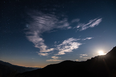 """Sierra Foothills Moonset"""