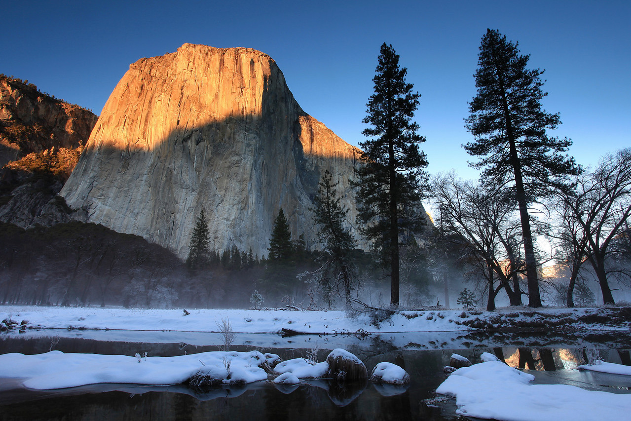 "CALIFORNIA 3865<br /> <br /> ""Christmas sunset in Yosemite Valley""<br /> <br /> Yosemite National Park"