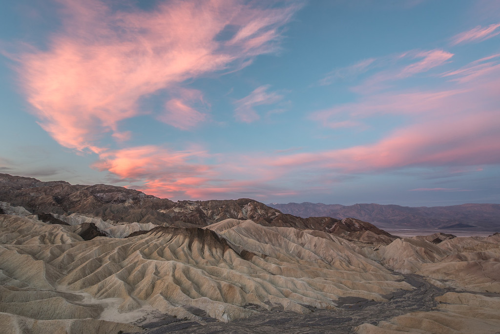 "CALIFORNIA 1728<br /> <br /> ""Sunrise at Zabriskie Point""<br /> <br /> Death Valley National Park"