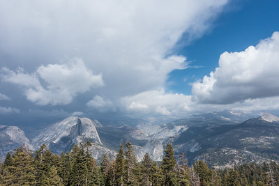 """CALIFORNIA 03553  """"View of Half Dome from Sentinel Dome""""  Yosemite National Park"""