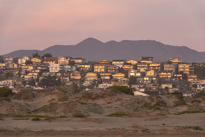 """Houses at Sunset, Morro Bay"""