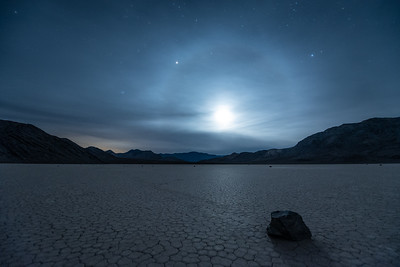 """Setting Moon over Racetrack Playa"""