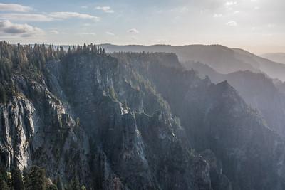 "CALIFORNIA 03607  ""Yosemite Valley View from Taft Point""  Yosemite National park"