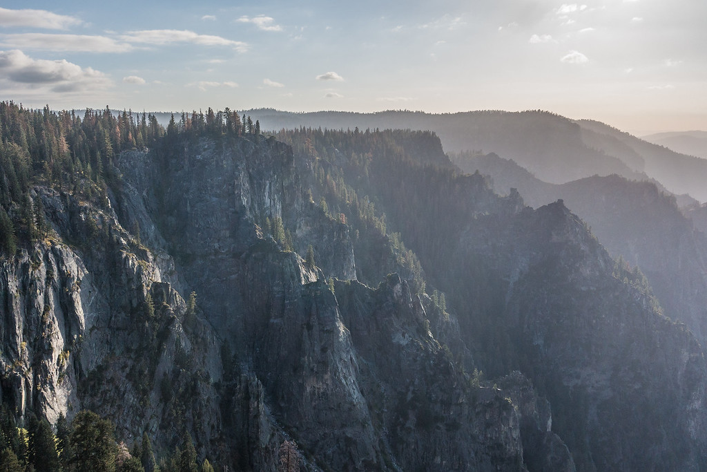 """CALIFORNIA 03607<br /> <br /> """"Yosemite Valley View from Taft Point""""<br /> <br /> Yosemite National park"""