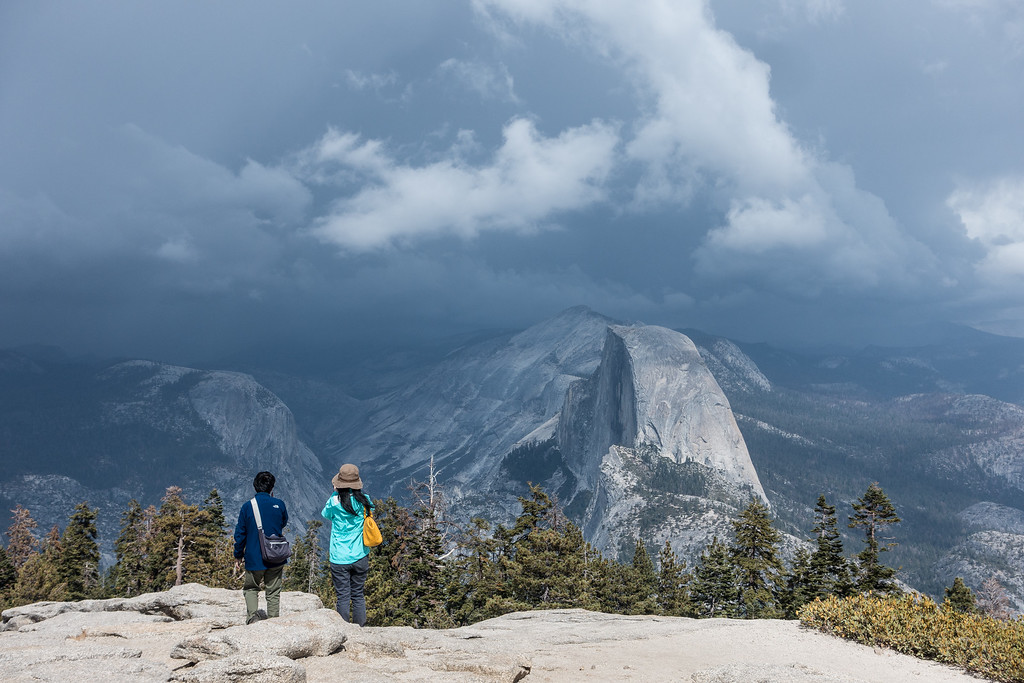"""CALIFORNIA 03564<br /> <br /> """"Approaching Storm over Half Dome""""<br /> <br /> Yosemite National Park"""