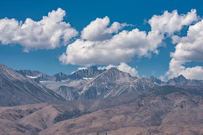 "CALIFORNIA 9906  ""Clouds over the Sierras""  Near Bishop, California"