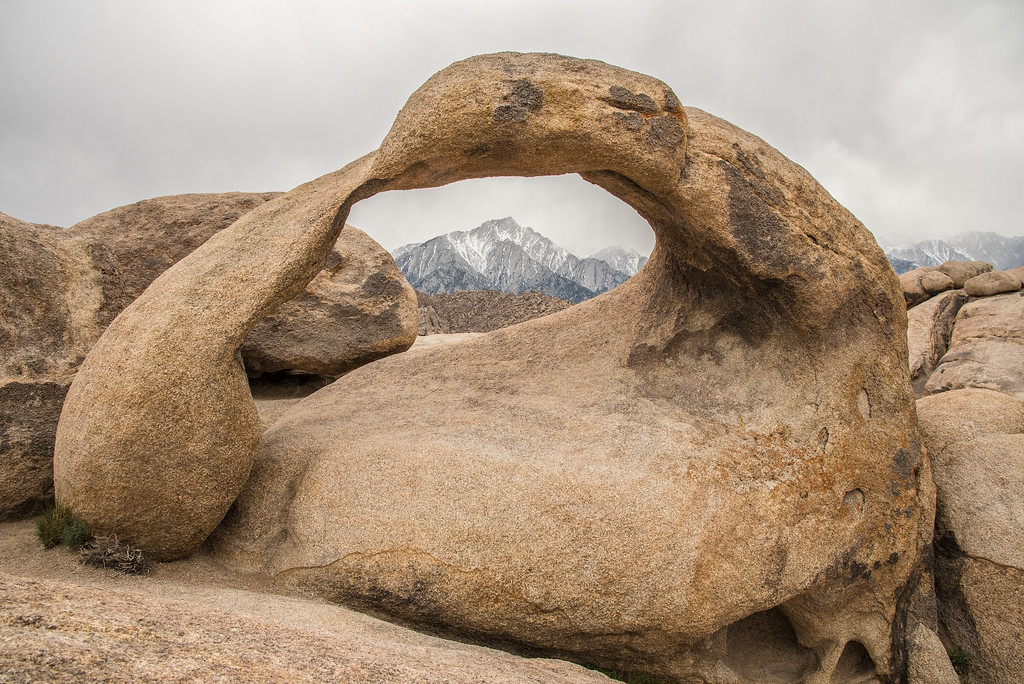 """CALIFORNIA 1945<br /> <br /> """"Mobius Arch and the Eastern Sierras""""<br /> <br /> Alabama Hills Recreation Area"""